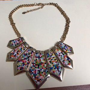 Aldo multi color statement necklace